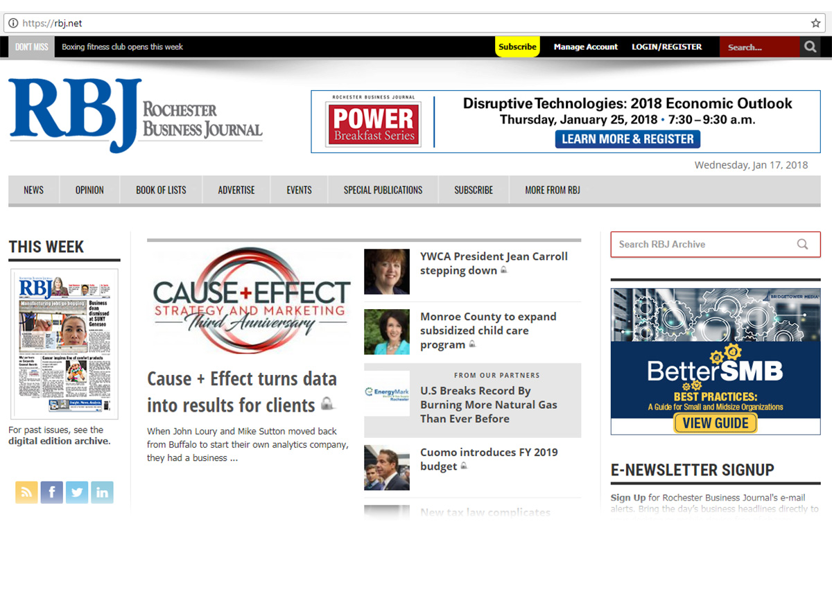 cause and effect web